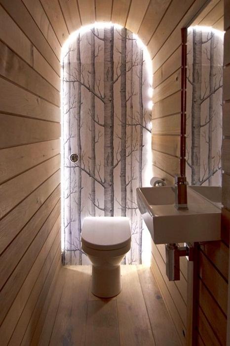 Сделайте оригинальное освещение, и ваша туалетная комната заиграет новыми красками.