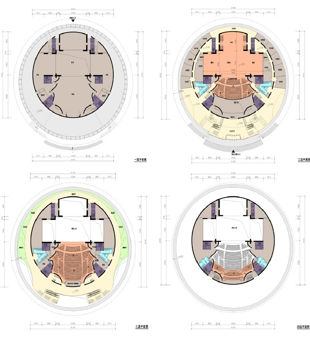 Схема трансформации многофункциональной сцены театра (проект компании DUTS Design).
