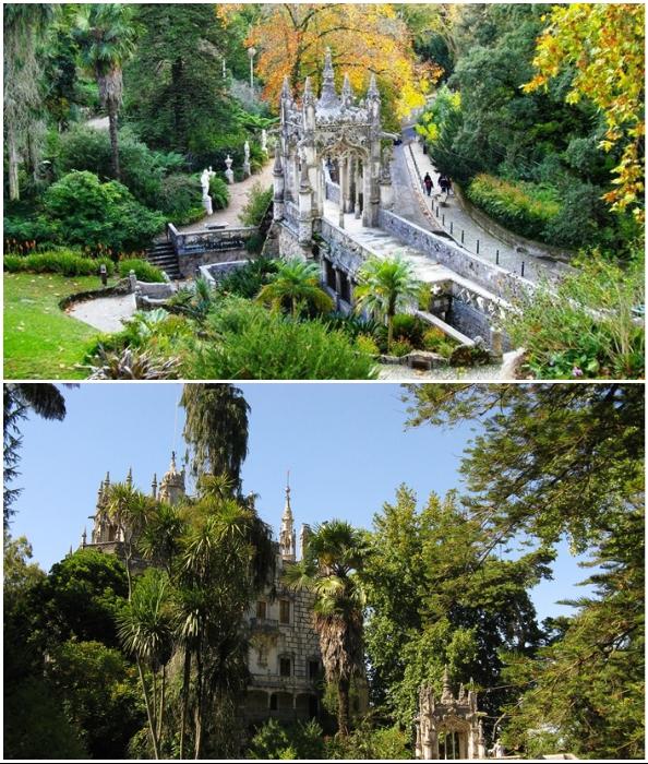 Вокруг дворца разбит живописный парк с мистическим подтекстом (Quinta da Regaleira, Синтра).