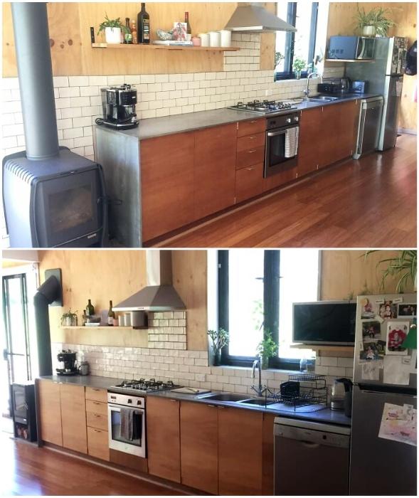 Современная кухня позволит побаловать себя кулинарными изысками.