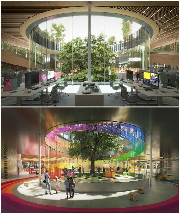 Мебельная фабрика превратится в нестандартное общественное пространство с зоной отдыха, выставочным центром и горнолыжным спуском (The Plus, Норвегия).