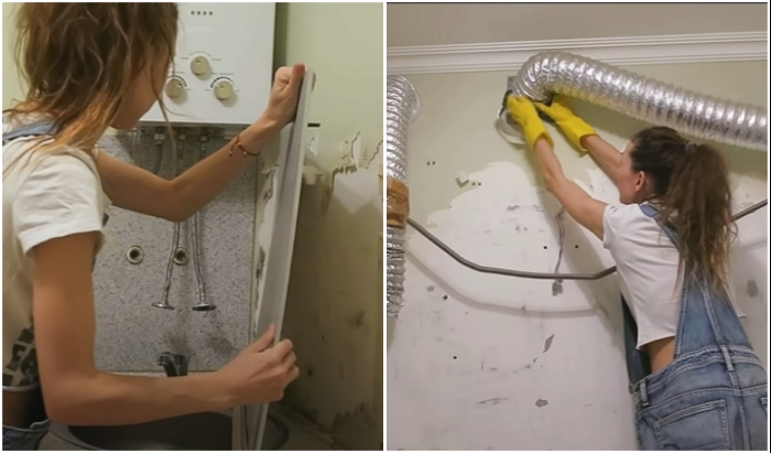 Перед ремонтными работами стоит вынести мебель, демонтировать оборудование и освободить поверхности от отделочного материала.