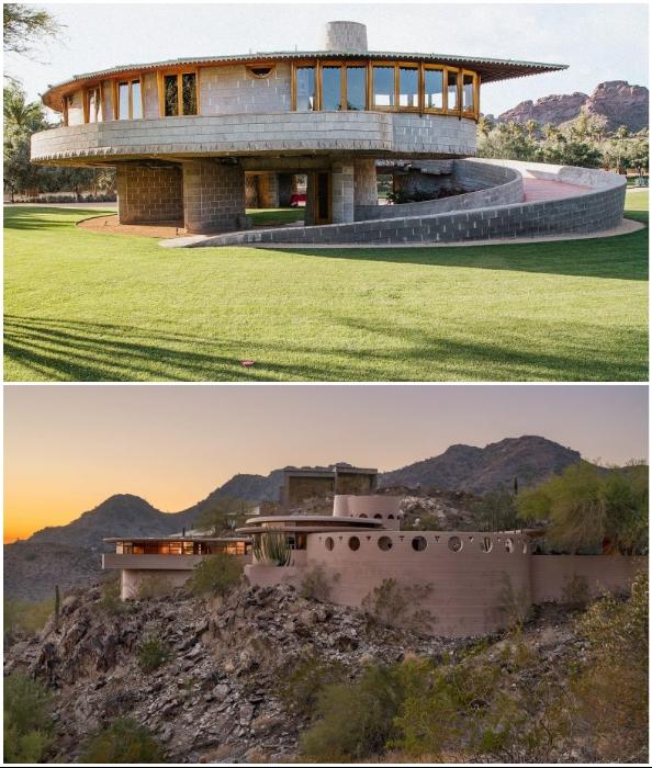 Не только строгие геометрические линии присущи работам великого архитектора.