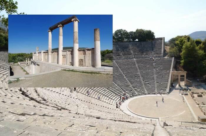 Античный театр в Эпидавре славится размерами, идеальной симметрией и невероятной акустикой (Греция). | Фото: orangesmile.com.