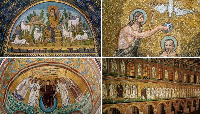 Главной достопримечательностью базилики Сант-Аполлинаре-Нуово являются восстановленные мозаики (Равена, Италия).