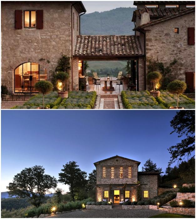 Отреставрированные фермерские дома сдаются в аренду любителям уединенного отдыха в роскошных условиях (Castello Di Reschio, Италия).