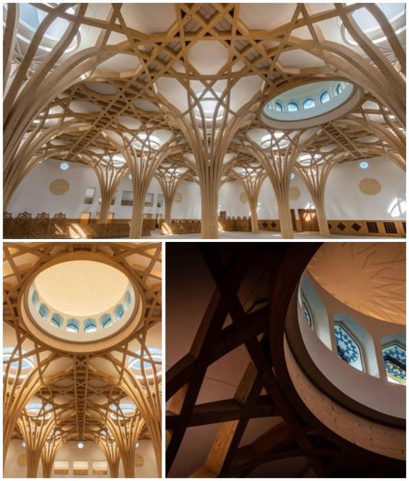 Интерьер Cambridge Central Mosque впечатляет своей монументальностью и нестандартным дизайном, как для мусульманской святыни (Великобритания).
