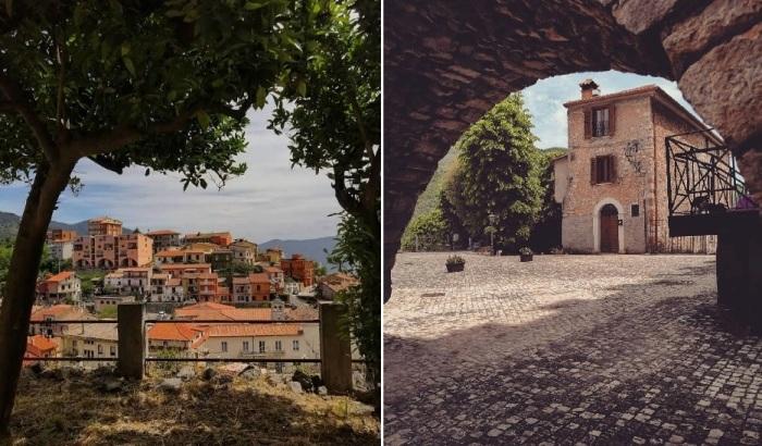 Застывшее Средневековье встречает гостей городка и претендентов, желающих попробовать свои силы в реставрации (Maenza, Италия).