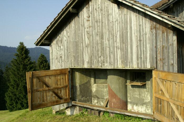 За дверью колоритного горного шале не найдете традиционной обстановки (Fake Chalets, Швейцария). | Фото: blog.tagesanzeiger.ch.