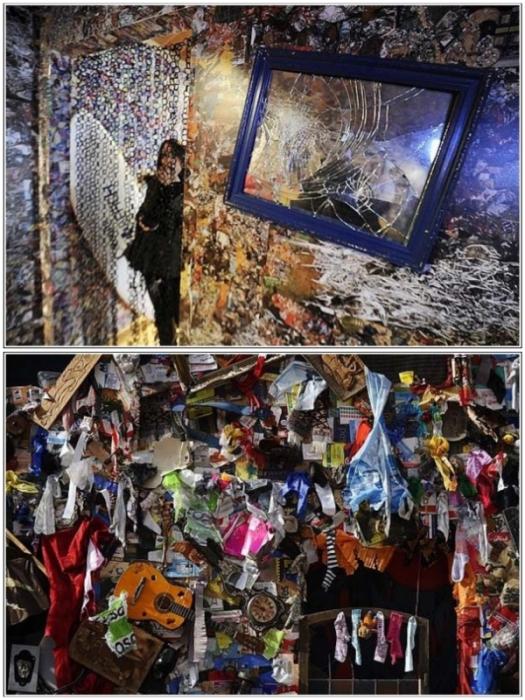 14 тонн мусора пошло на создание двухэтажного отеля, создание которого приурочили к Международной выставке туристической индустрии (Save the World Hotel, Мадрид).