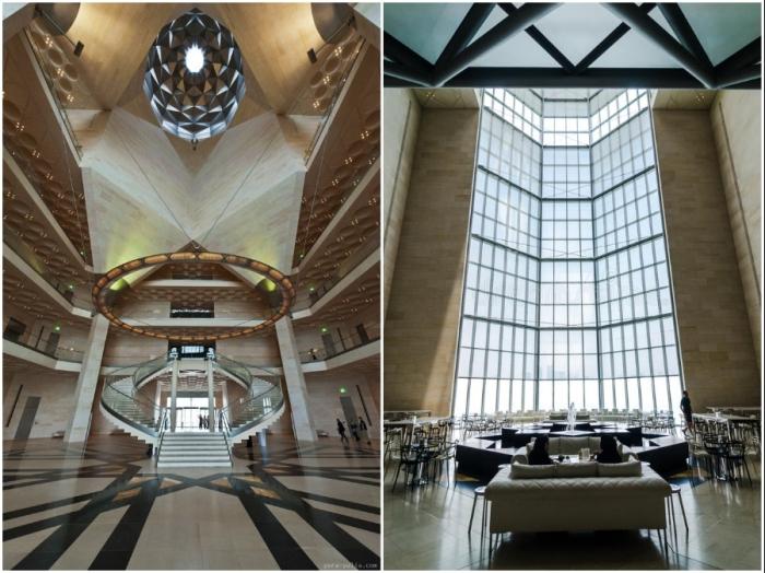 Дизайном интерьера Museum of Islamic Art in Doha занималась команда Жана Мишеля Вильмотта (Катар).