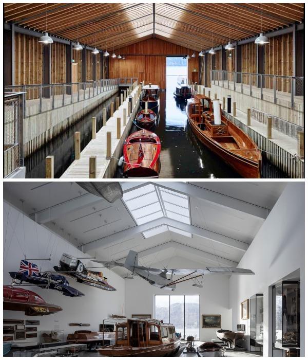 В Музее причала Уиндермир представлена самая полная коллекция водных видов транспорта (Камбрия, Великобритания).