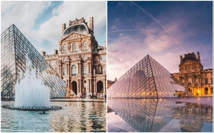 Несмотря на острую критику и противостояние Стеклянная пирамида Лувра стала символом Парижа.