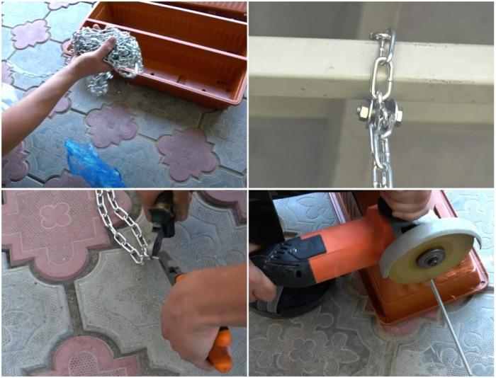 Инструменты, материалы и крепежные элементы, которые понадобятся для создания вертикального цветника.