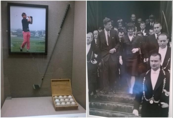 В музее представлены личные вещи и фотографии, связанные с жизнью и деятельностью 35-го президента Соединенных Штатов (John F. Kennedy Presidential Library and Museum, Бостон).
