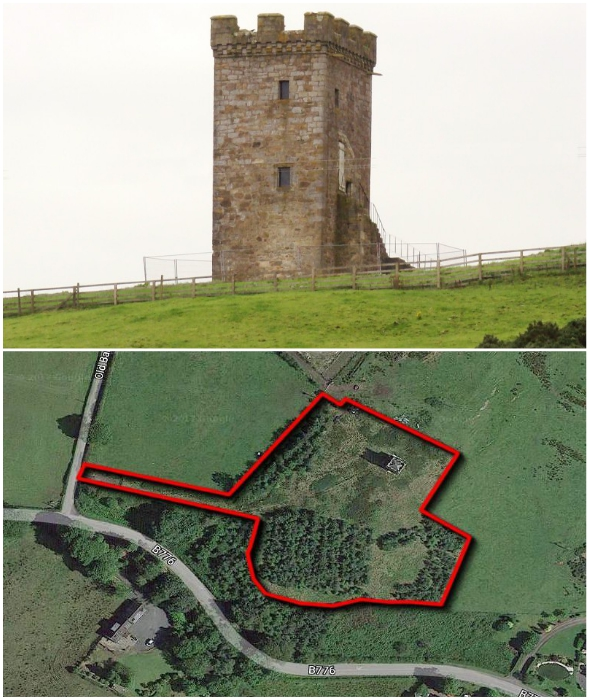 Новому владельцу досталась не только старинная башня, но и внушительный участок земли (Caldwell Tower, Великобритания).