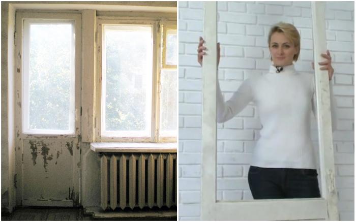 Дизайнер Ольга решила дать вторую жизнь балконной двери и реализовать свою мечту.