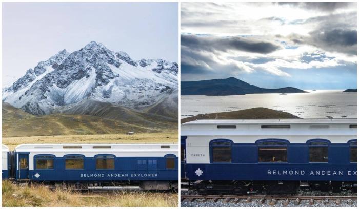 Путешествующие увидят горные вершины Анд, голубые озера и побережье Тихого океана (Belmond Andean Explorer, Перу).
