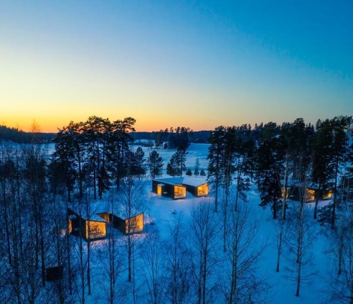 Виллы Uni создают иллюзию полного уединения, оставаясь при этом рядом с другими (Финляндия). | Фото: newatlas.com.