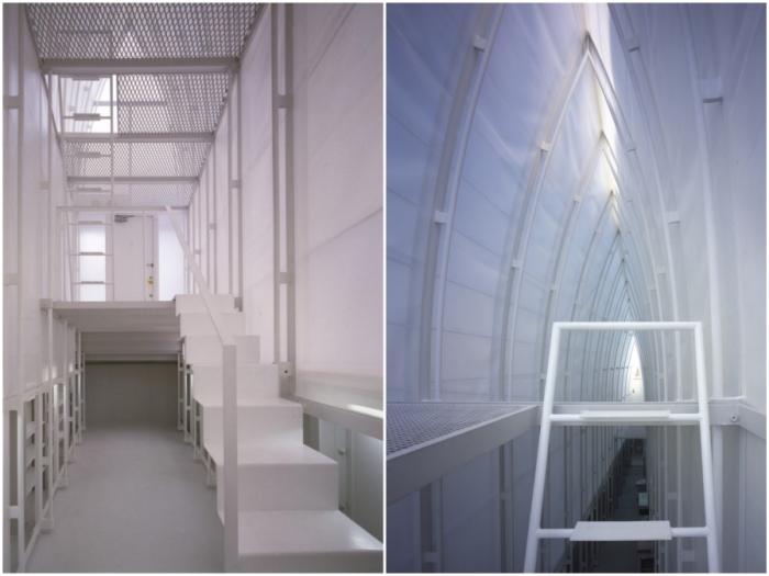 Белый цвет и открытая планировка сделали дом воздушным (Lucky Drops, Токио).