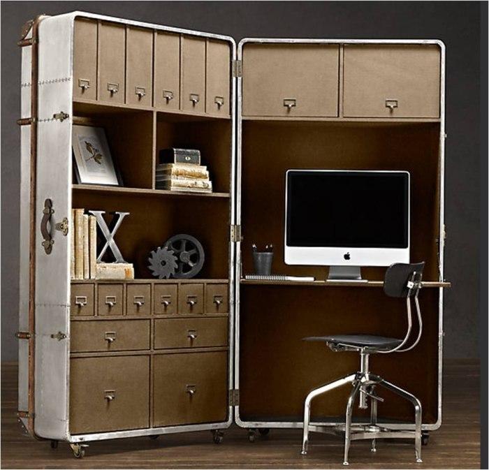 Многофункциональный мебельный модуль поможет оформить несколько зон одновременно. | Фото: thedigitalistas.com/ lukeria-lj.livejournal.com.