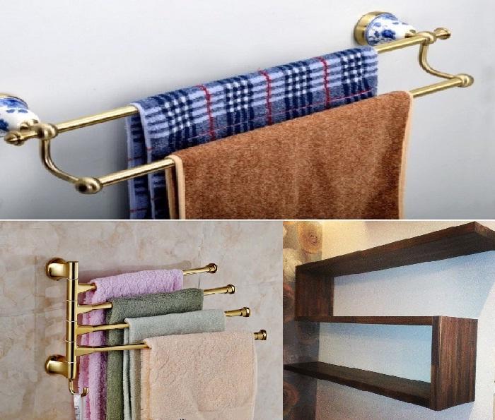 Надежно укрепляйте держатели для полотенец и полки.