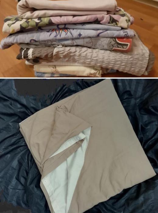 Постельное белье из разных комплектов в элитных апартаментах недопустимо. | Фото: olx.ua/ izi.ua.