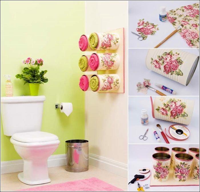 Полотенцедержатели из консервных банок своими руками. | Фото: roomble.com.