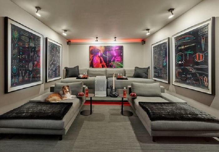 Этот невероятно крутой домашний кинотеатр когда-то был гаражом (Флорида, США). | Фото: bandgdesign.com.
