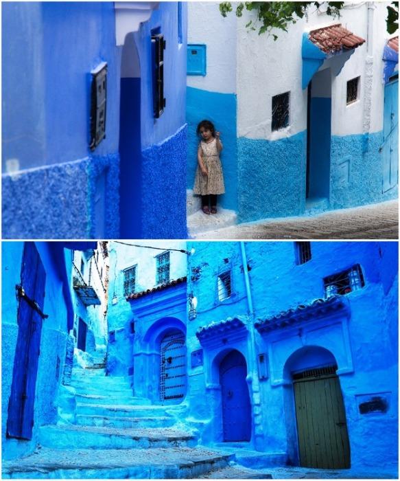 Шефшауэн – единственное место на земле, где одновременно можно увидеть около тысячи оттенков синего цвета (Марокко). | Фото: perisher-13.livejournal.com.