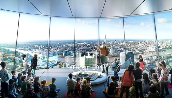 В прозрачной башне под небесами будут проходить интерактивные занятия для школьников (концепт The Tulip, Великобритания). | Фото youtube.com.