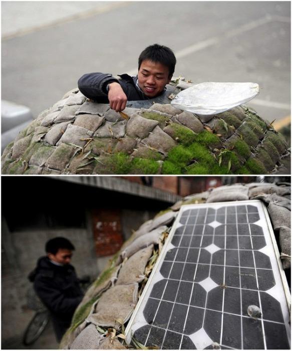 Благодаря солнечной батарее в домике есть электричество. | Фото: bigpicture.ru.