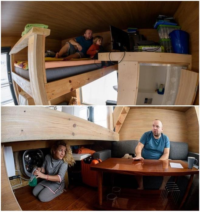 Даже если удалось создать несколько уровней в крошечном доме пространства и комфорта не прибавится. | Фото: news.myseldon.com.