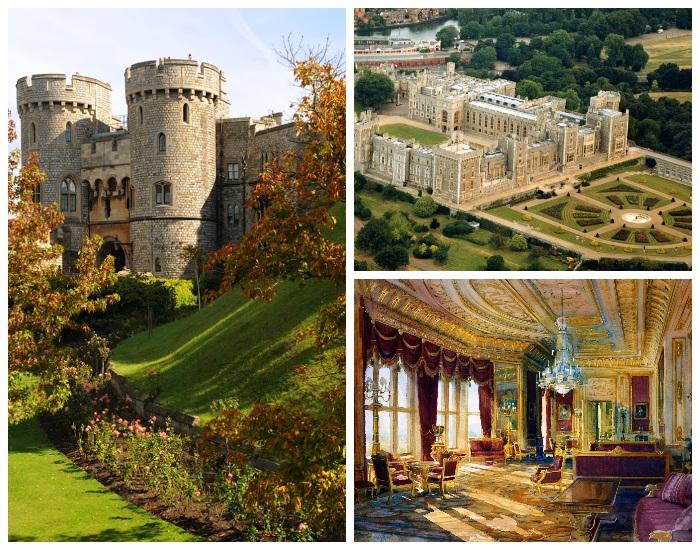 Виндзорский замок, в который планирует переехать семья принца Гарри.