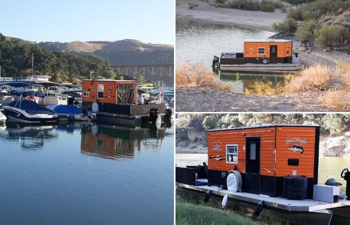 Благодаря особому строению понтонной лодки, плавучий домик Heidi-Ho можно пришвартовать в любом понравившемся месте. | Фото: flickr.com/ © Scott Cronk.