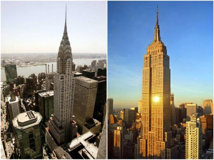 Первые манхэттенские небоскребы, построенные в 30-х гг. прошлого века (Нью-Йорк, США). | Фото: webmandry.com.