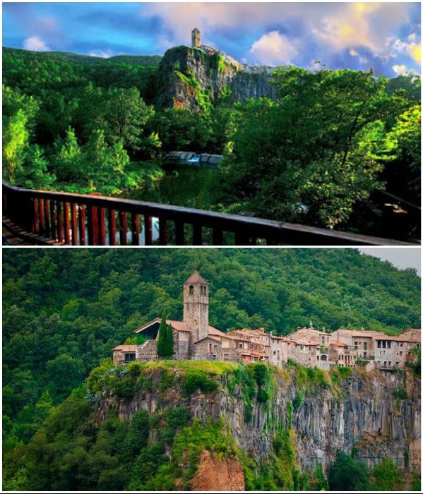 Скальный городок Castellfollit de la Roca расположен в самом живописном месте Испании. | Фото: lightsup.ru/ vk.com.