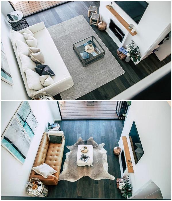 Гостиная с камином – не только эффектное дизайнерское оформление, но и способ поддержания комфортной температуры («LilyPad Palm Beach Villa», Австралия).   Фото: boredpanda.com/ © Ian Davidson.