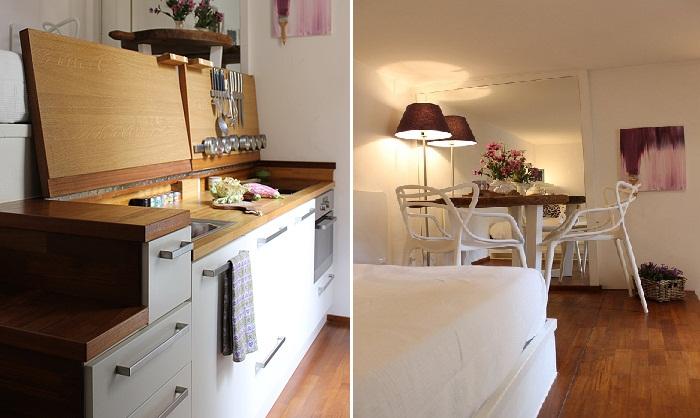 Благодаря двухуровневому расположению, удалось создать все необходимые зоны в квартире.