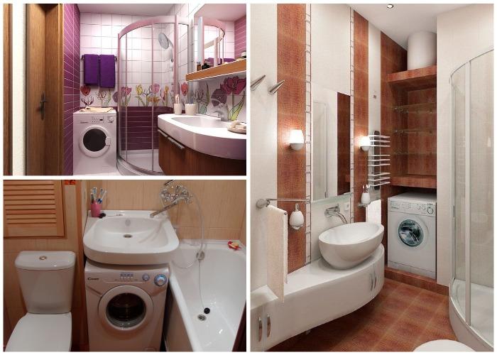 Установить стиральную машину можно даже в самой крошечной ванной комнате.
