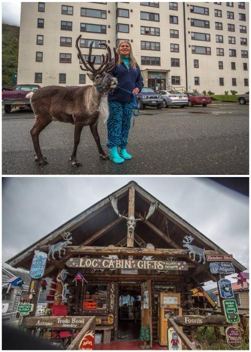 Предприимчивые горожане неплохо зарабатывают на туристах (Уиттиер, Аляска). | Фото: macos.livejournal.com.