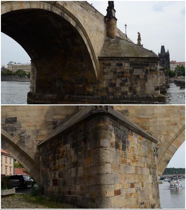 Сложно представить, но эта каменная кладка пережила не одно наводнение и военное действие (Карлов мост, Прага).