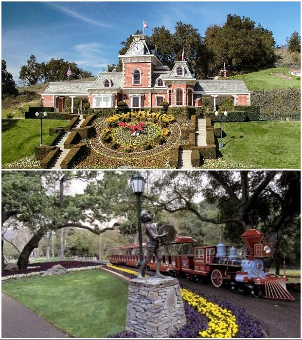 Поистине сказочное поместье создал Майкл Джексон в Лос-Оливос (Neverland, Санта-Барбара).