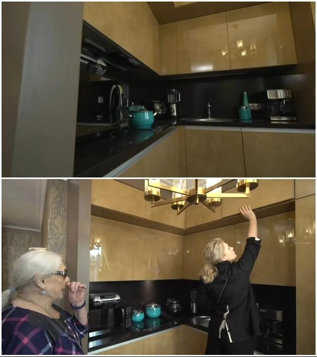 Дизайн кухни в квартире-студии, созданный для Лидии Федосеевой-Шукшиной.