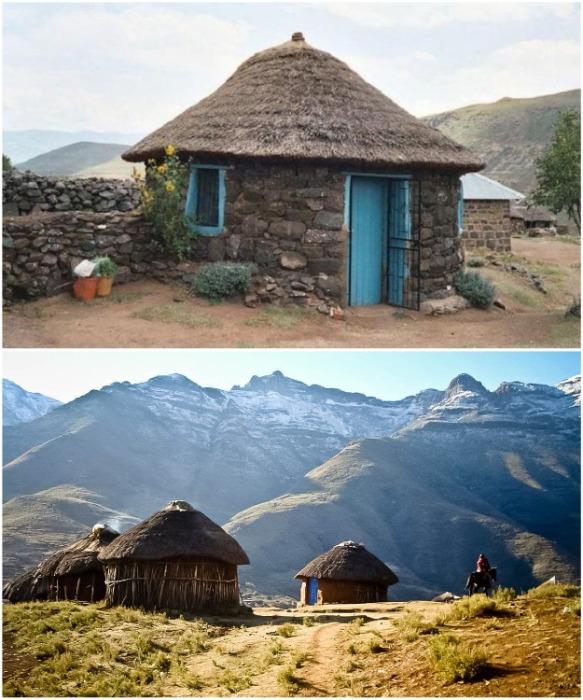 Чаще всего такие хижины используют охотники в Лесото (Южная Африка). africakoulik.com.