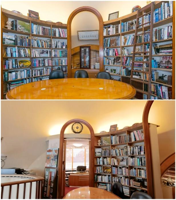 В необычном доме создано две библиотеки («Bubble House», Австралия). | Фото: interestingengineering.com/ youtube.com, © First National Real Estate.