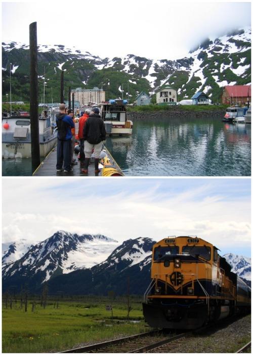 Добраться в город можно на катере или через туннель (Whittier, Аляска). | Фото: ru.wikipedia.org.