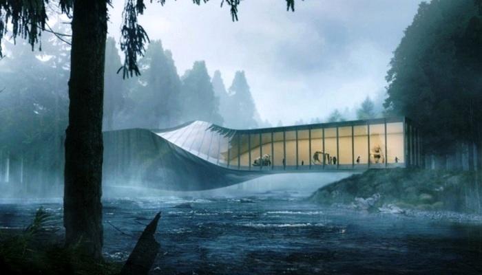 Оригинальная форма конструкции превратила мост в отдельное произведение скульптурного искусства (Twist, Норвегия). | Фото: pinterest.ru.