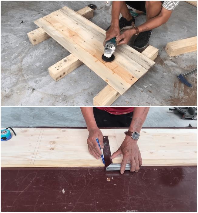 Перед раскроем и делением щитов их поверхности следует отшлифовать. | Фото: youtube.com/ © Woodworking Tools.