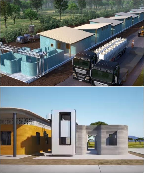 Два года специалисты разных компаний разрабатывали проект строительства новой деревни в штате Табаско (визуализация концепта). | Фото: 3d-grenzenlos.de/ © New Story.